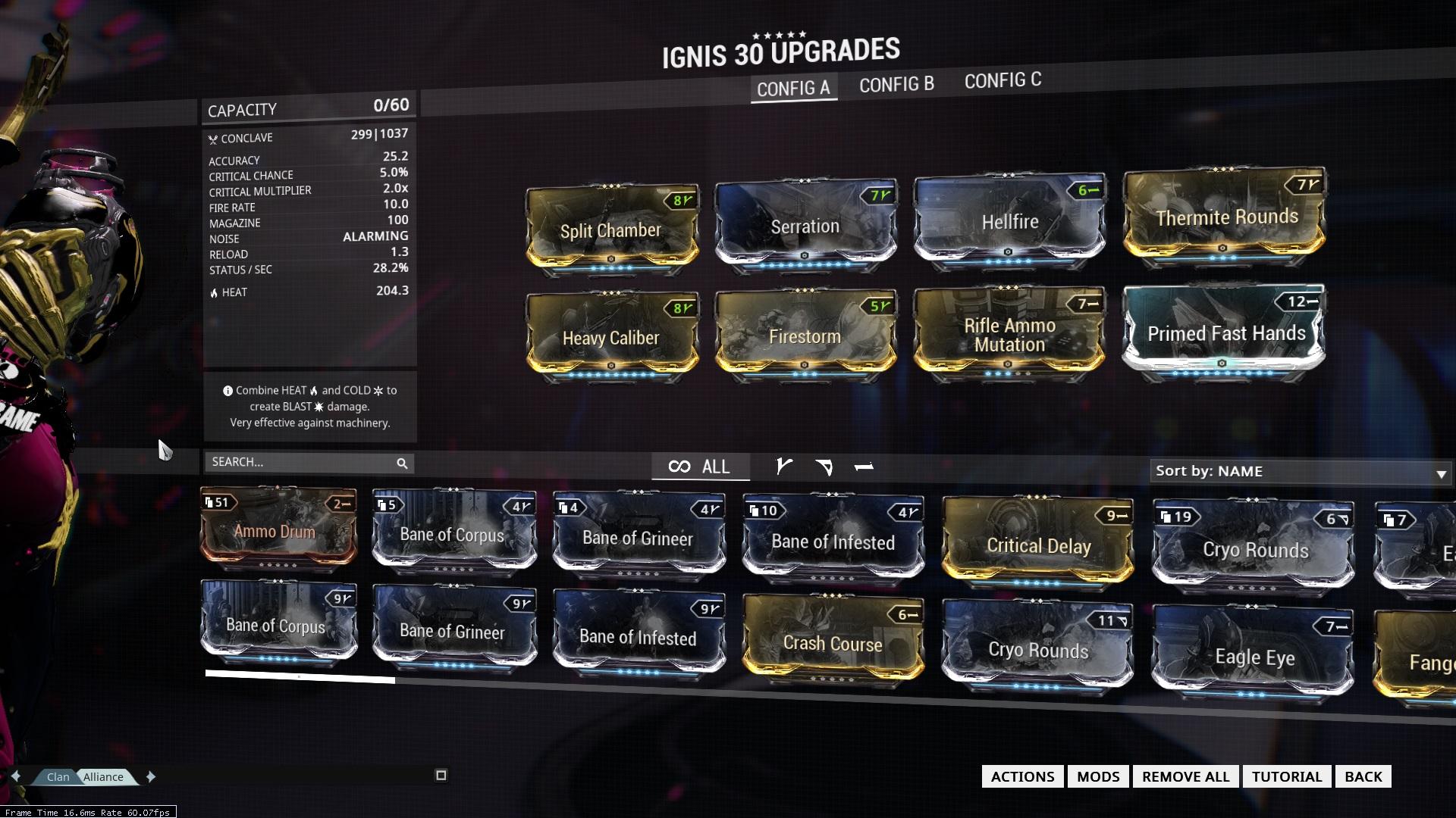 Ignis warframe build